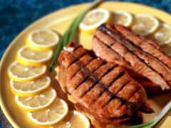 eда, мясо, лимон