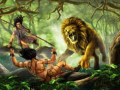 lion, хищник, hunting