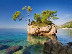 хорватия, brela, море