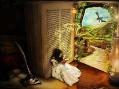 fantasy, дверь, девушка