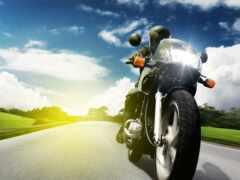 мотоцикл, скорость, дорогой