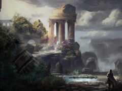 развалины, храм, fantastic