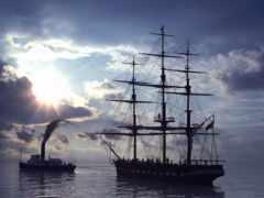 корабль, два
