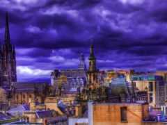 крыши, город, взгляд