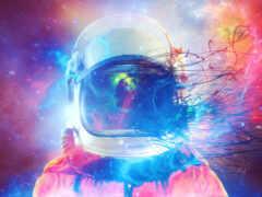 космонавт, art, скафандр