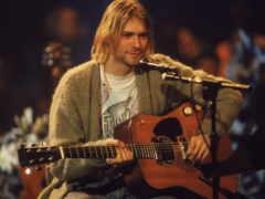 cobain, kurt, микрофон