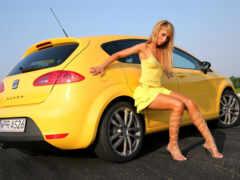 девушка, motor, car