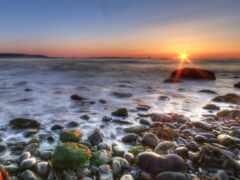 море, берег, утра