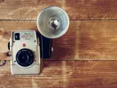 vintage, фотоаппарат, ноутбук