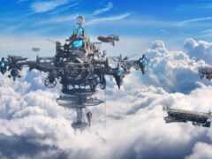 небо, облако, корабль