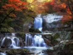 природа, водопад, landscape
