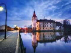 castle, чехия, south