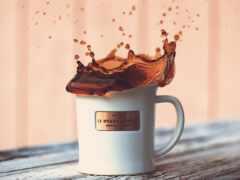 coffee, splash, cup