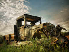 грузовик, старый
