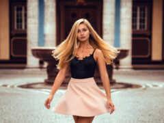 юбка, season, blonde