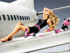 девушка, крыло, plane