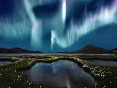 сияние, северное, природа