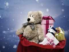 подарки, мишка