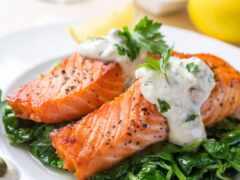 salmon, prostokvashin, калорийность