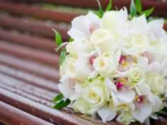 букет, невесты, орхидеи