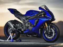 blue, мотоцикл, yamah