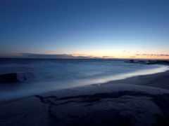 море, горизонт, пляж