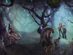 существа, сказочные, волки