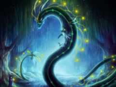 дракон, art, змей