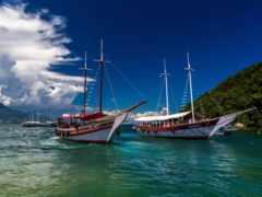 корабль, grande, море
