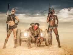 punk, пустыня, солдат