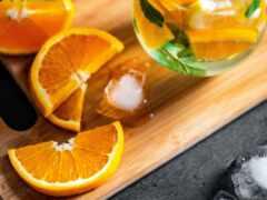 напиток, коктейль, оранжевый