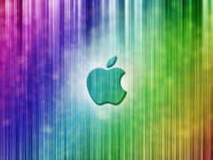 apple радужные полоски