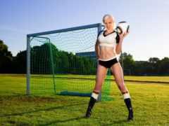 футбол, девушка, футболистка