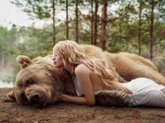 медведь, девушка, ложь