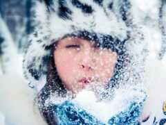 white, мех, снег
