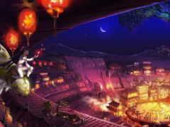 anime, город, fantasy