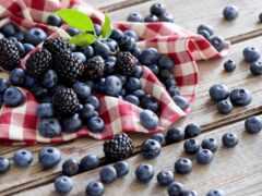 blackberry, черника, ягода