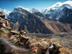 гора, tibet, everest