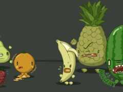 арбуз, плод, банан