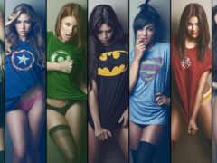 devushki, супергерои, супер