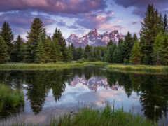 summer, гора, озеро