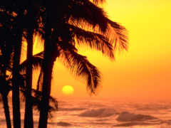 море, sun, закат