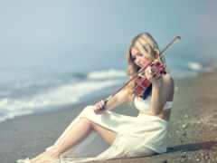 музыкальные, скрипка, youtube