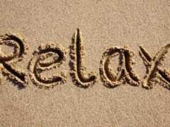 relax, title, песок