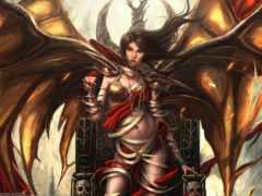 демон, девушка, art Фон № 64560 разрешение 2560x1440