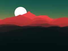 минимализм, гора, природа