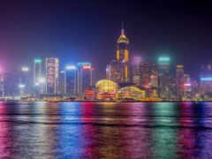 Гонконг Китай Дома Небоскребы