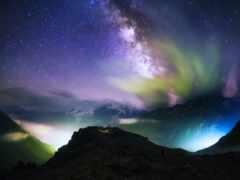 land, небо, ночных