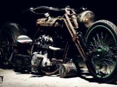 chopper, мотоцикл, боб