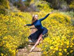 dance, девушка, природа